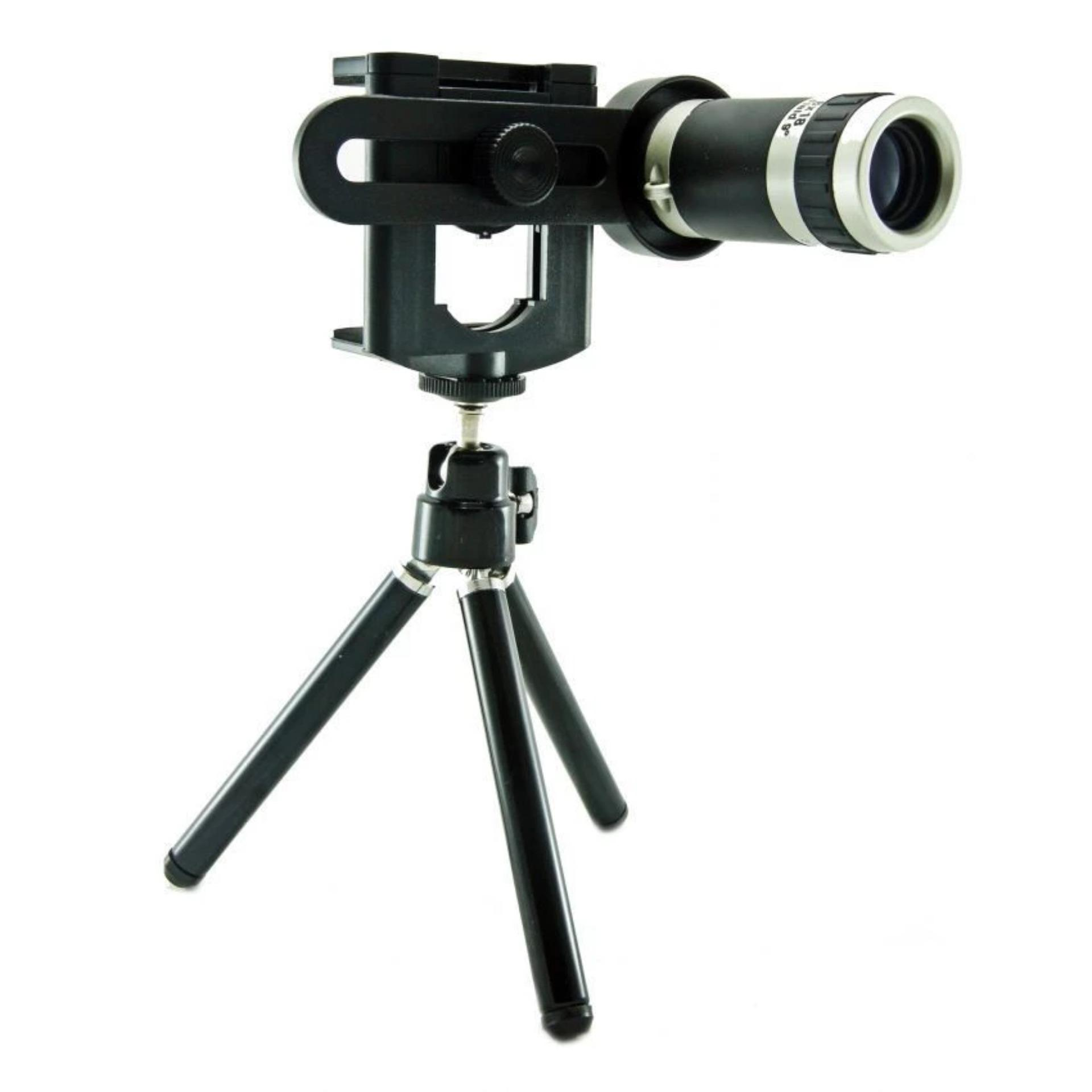 Ống kính đa năng 8x cho điện thoại MobiTele 2 (Đen)