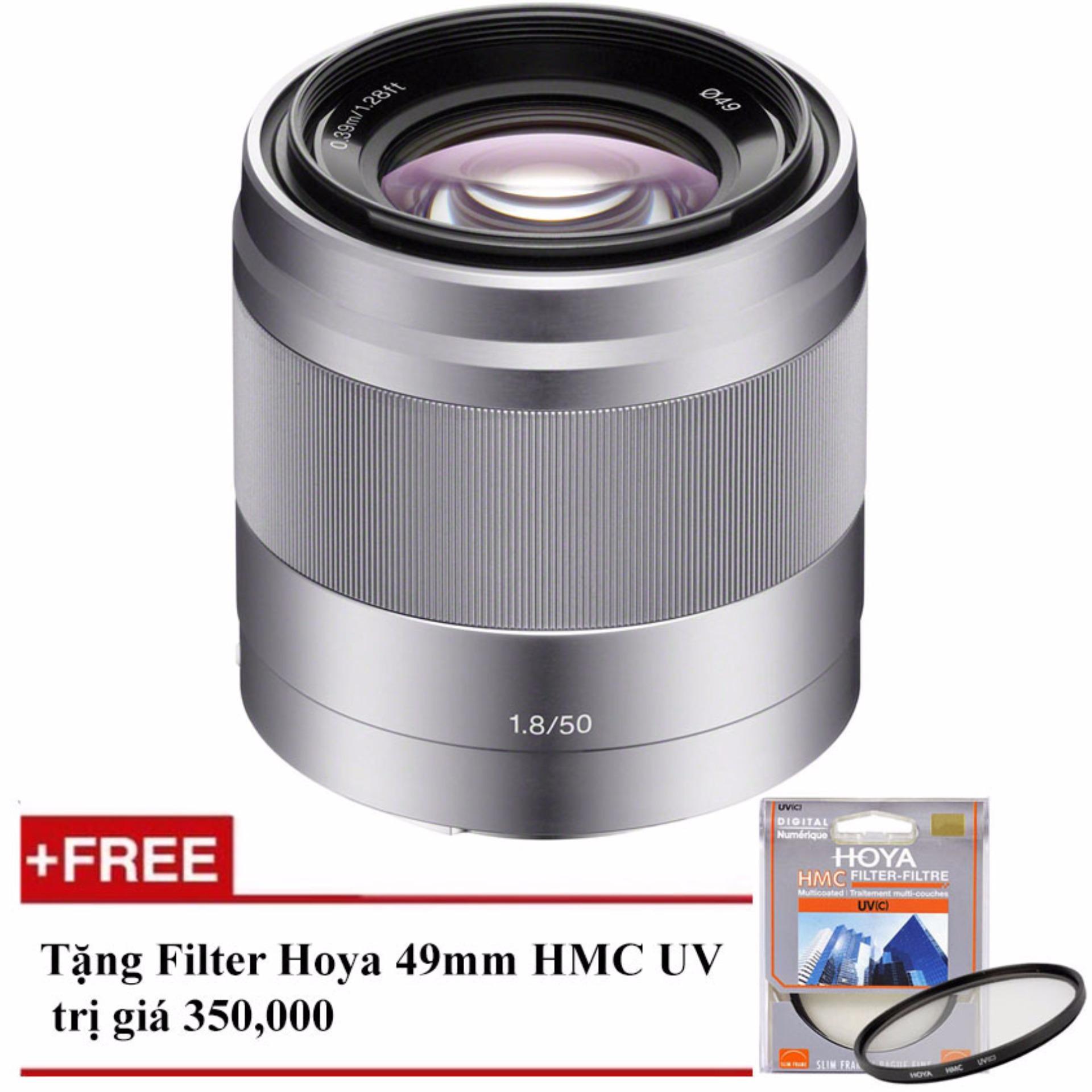 Ống kính Sony SEL 50mm F/1.8 OSS (Bạc) – Tặng 1 Filter Hoya HMC UV 49mm