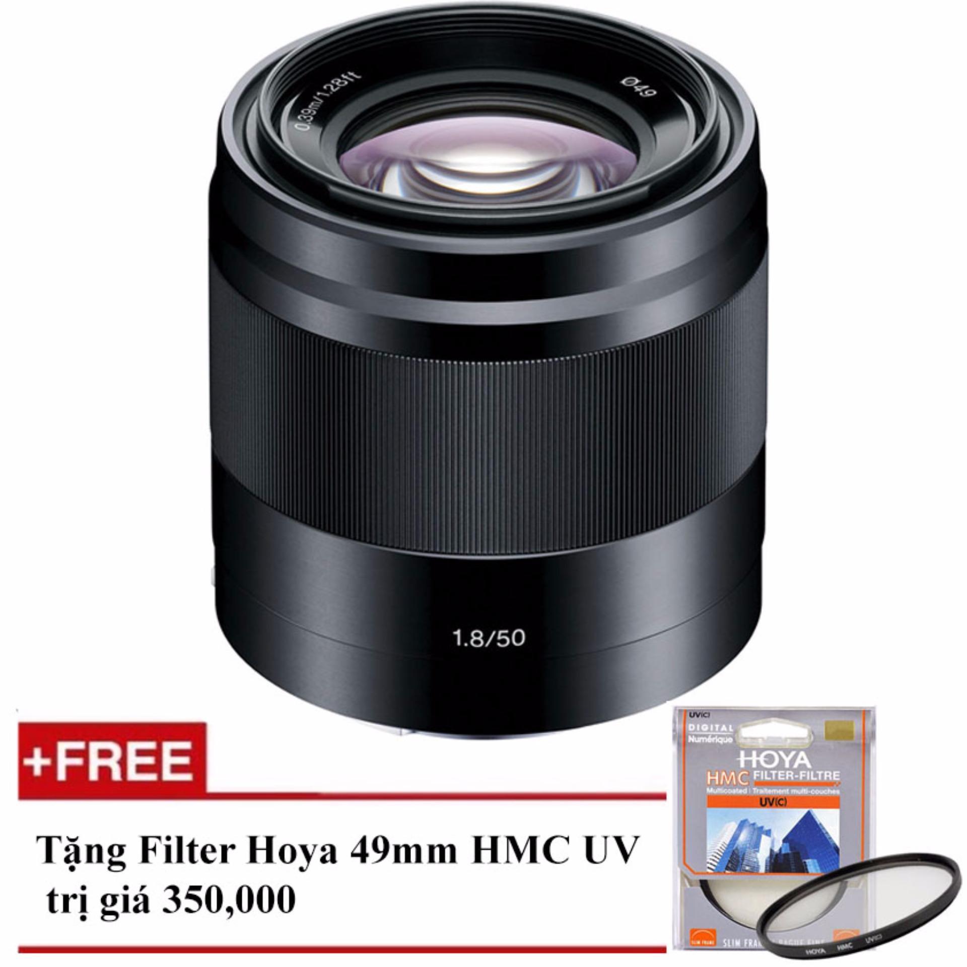 Ống kính Sony SEL 50mm F/1.8 OSS (Đen) – Hàng Sony Việt Nam – Tặng 1 Filter Hoya HMC UV 49mm