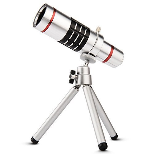 Ống kính tele bộ zoom xa tiêu cự 10x cho điện thoại smartphone LieQi (Bạc)