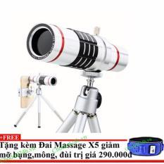 Ống kính Tele zoom 18x cho mọi Smartphone+ Tặng đai massage x5 giảm mỡ