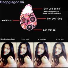 Ống len chụp ảnh selfie 3 chế độ cực đẹp + 1 đèn Led chụp ảnh đẹp long lanh Đang Bán Tại Phukiensieure.