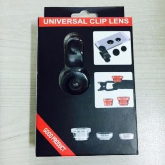 Ống Lens chụp hình cho điện thoại 3 in 1 (Đen) shopping