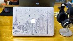 Ốp 2 mặt cho Macbook C016 13Air (Hoạ tiết Paris)