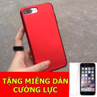Ốp dẻo đỏ dành cho iPhone6 Plus/ 6s Plus + Tặng 01 miếng dán cườnglực