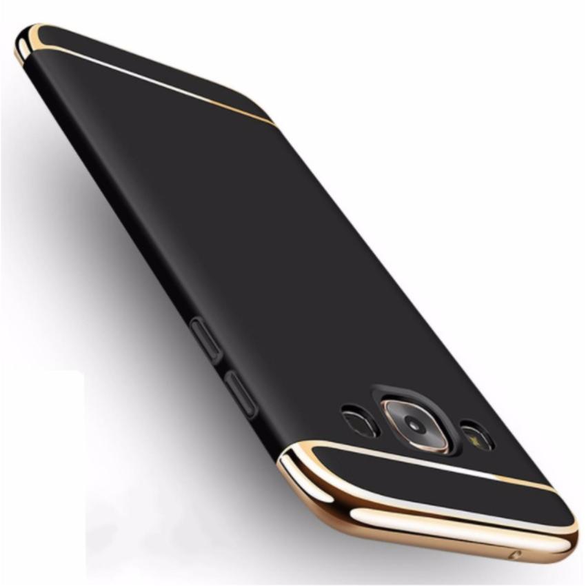 Hình ảnh Ốp lưng 3 mảnh cho Samsung J7 Prime cao cấp (Đen phối vàng)