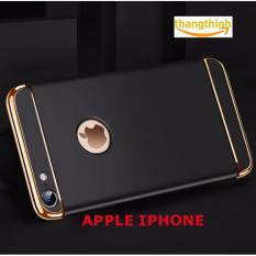 Ốp lưng 3 mảnh plastic cao cấp cho IPHONE 6PLUS/6S PLUS - VIỀN VÀNG GOLD CAO CẤP