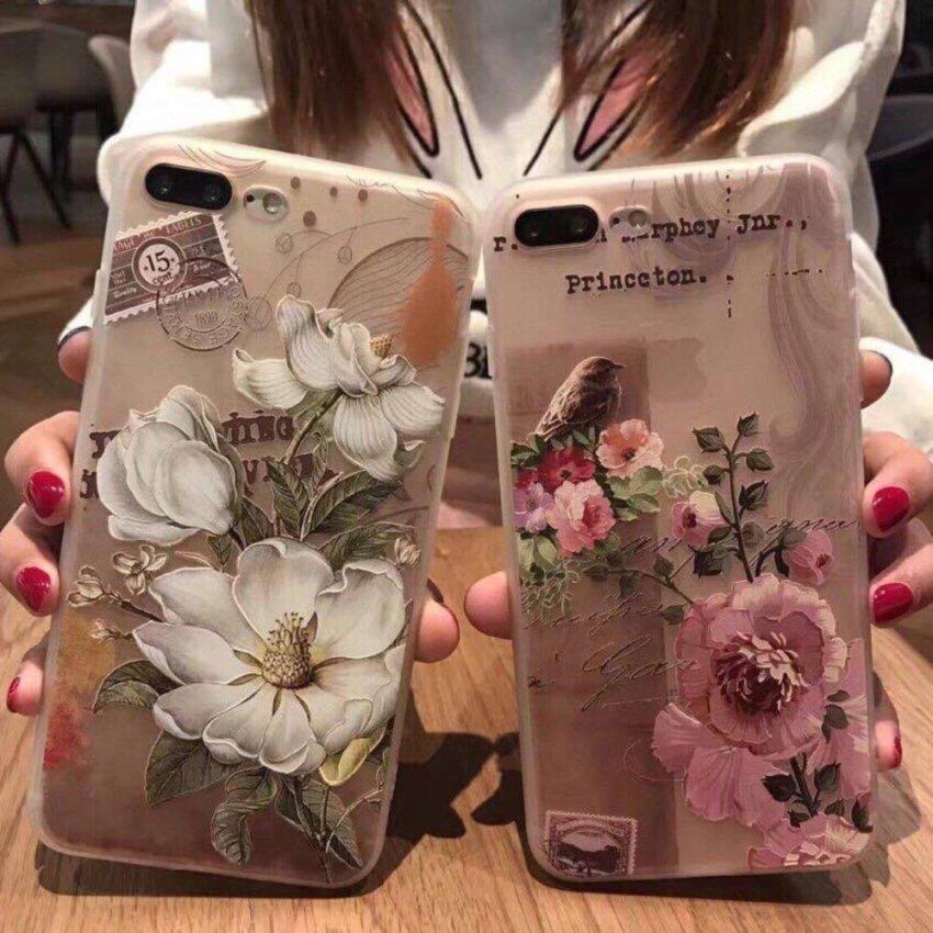 Hình ảnh ốp lưng cao cấp hoa châu Âu iphone 7