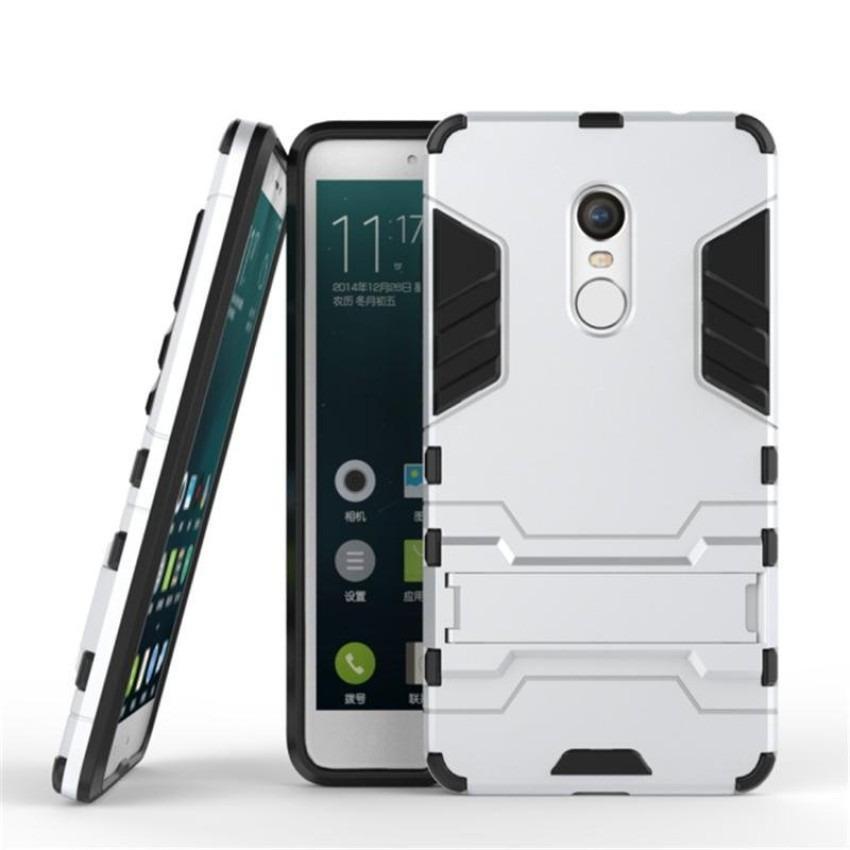Giá Ốp lưng chống sốc Iron Man cho Xiaomi Redmi Note 4X (Bạc) Tại Smartbuys