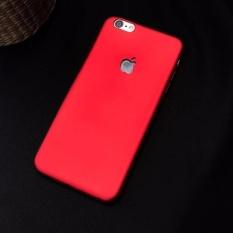 Ốp lưng dẻo cao cấp logo táo cho IPHONE 5 5S ĐỎ ĐÔ sang trọng
