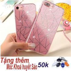 Ốp Lưng Dẻo Kim Tuyến Thời Trang Dành Cho iPhone 6/6s (Màu hồng) + Tặng Móc Khoá Huyết Sáo Thông Minh