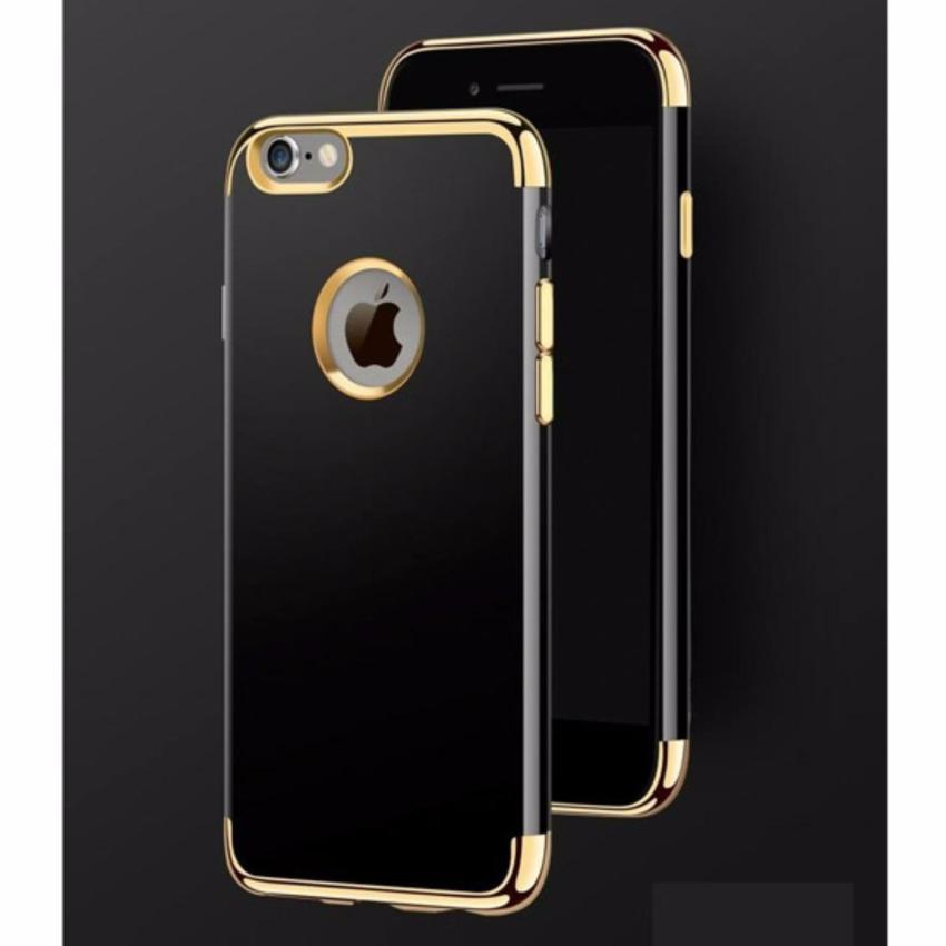 Hình ảnh Ốp lưng mạ viền gold cho điện thoại Iphone 6/6S (Đen)