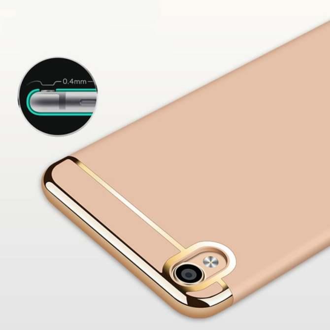Ốp Lưng 3 Mảnh Oppo Neo9 – Vàng + Tặng kèm kính cường lực