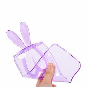 Ốp lưng Tai thỏ đáng yêu kiêm giá đỡ iPhone 6 case Tặng dây đeo