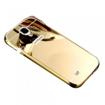 Ốp lưng viền nhôm mặt gương cho Galaxy S7 Edge (Vàng)