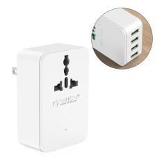 ORICO S4U 20 wát Ổ Cắm Điện đa năng Du Lịch Chuyển Đổi Adapter với 4 Cổng Sạc USB ÂU-quốc tế