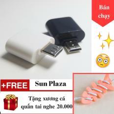 OTG – Đầu chuyển Micro USB (dành cho android) + Tặng Xương Cá Quấn Tai Nghe