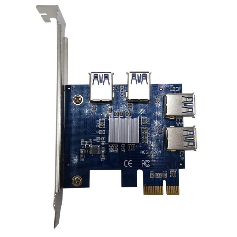 Bảng giá PCI-E 1X to 4 PCI-E 16X Slots Riser Card External Adapter PCI-E Port Card - intl Phong Vũ