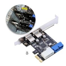 Justgogo Card Mở Rộng PCI-E Sang USB3.0 Với Giao Diện 20PIN Trước – Quốc tế