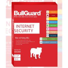 Phần mềm diệt virus BullGuard Internet Security 1 năm 3 máy tính – Tặng thêm 6 tháng sử dụng miễn phí
