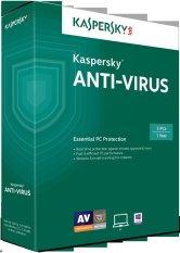 Phần mềm diệt virus Kaspersky Anti-Virus 3PC / 1 năm