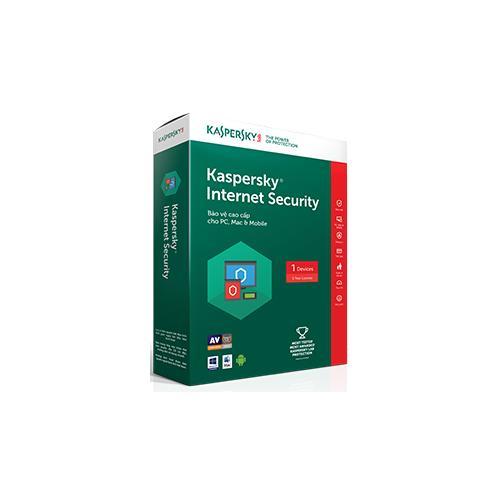 Giá Phần mềm diệt virus máy tính Kaspersky Internet Security 2018 1 PC / User / 1 Year Tại May tinh dien thoai