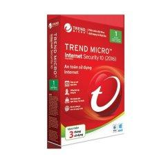 Phần mềm diệt virus Trend Micro Internet Security 2015- Hàng nhập khẩu