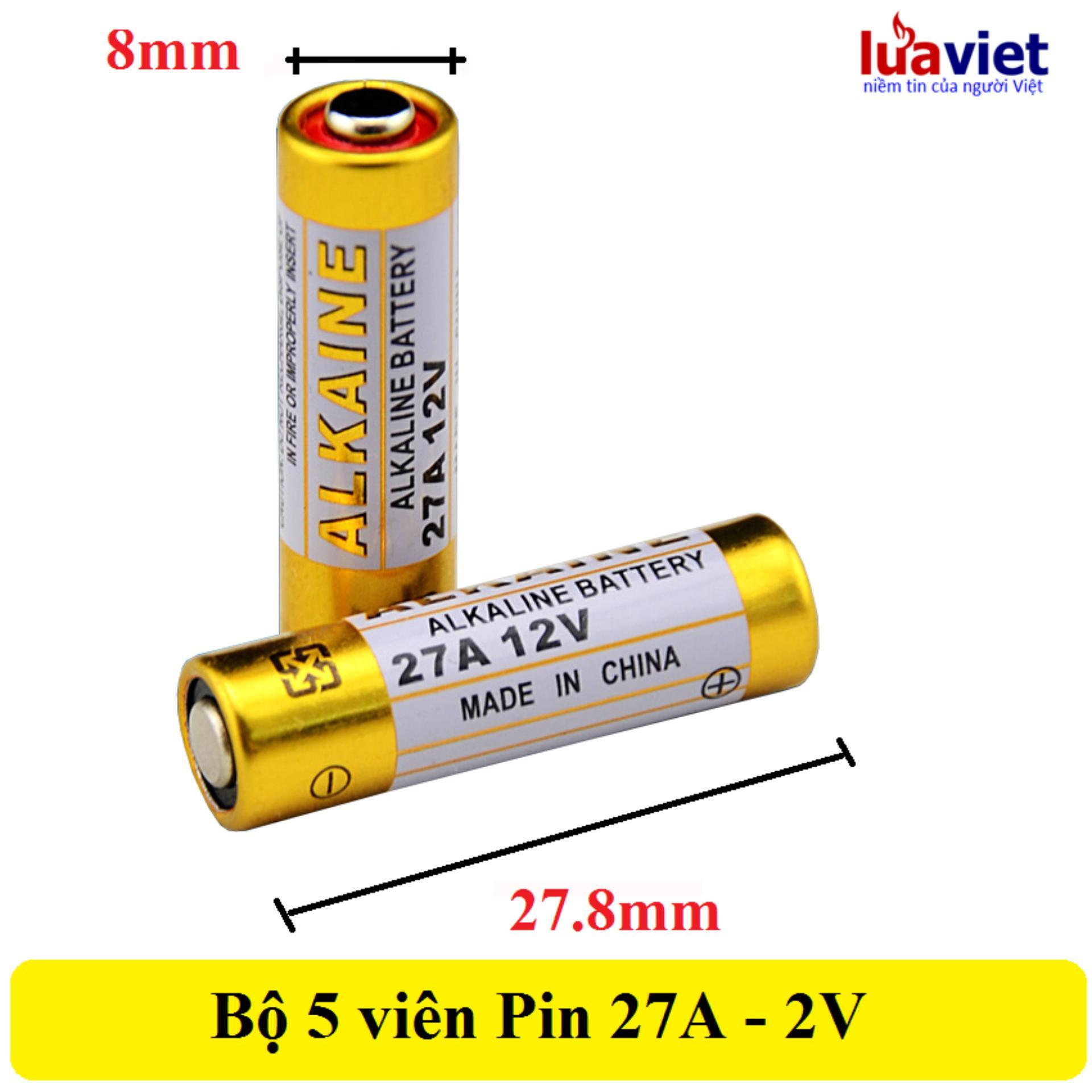 Pin LVTech AlKaline 27A - 12V (5 viên)