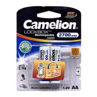 Pin sạc Camelion AlwaysReady Rechargeable 2700mAh AA (Trắng)