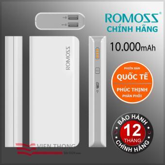 Pin sạc dự phòng 10000mah Romoss GL Solit 5 - Hãng Phân phối chính thức (Màu Trắng) + Tặng đèn LED USB - 8710106 , RO122ELAA2Y0DLVNAMZ-5098344 , 224_RO122ELAA2Y0DLVNAMZ-5098344 , 400000 , Pin-sac-du-phong-10000mah-Romoss-GL-Solit-5-Hang-Phan-phoi-chinh-thuc-Mau-Trang-Tang-den-LED-USB-224_RO122ELAA2Y0DLVNAMZ-5098344 , lazada.vn , Pin sạc dự phòng 10000ma