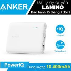 Pin sạc dự phòng ANKER PowerCore 10400mAh (Trắng) – Hãng phân phối chính thức