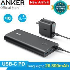 Pin sạc dự phòng ANKER PowerCore+ 26800mAh PD kèm Sạc tường PowerPort+1 USB-C 30W