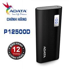 Pin sạc dự phòng Cao Cấp 12500mAh LCD ADATA P12500D (Đen) – Hãng phân phối chính thức