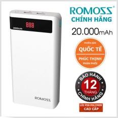 Pin sạc dự phòng cao cấp Romoss Sense 6P 20000mAh (Trắng) - Hãng phân phối chính thức