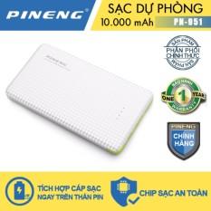 Pin sạc dự phòng Pineng PN-951 10000mAh (Trắng)