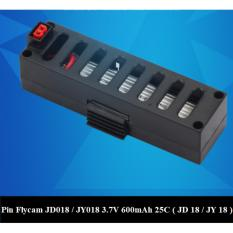 Pin thay thế cho Flycam JD018 / JY018, 3.7V, 600mAh, 25C (Đen)