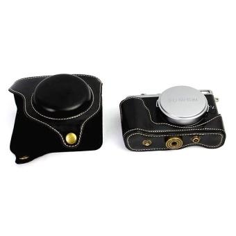PU Leather Camera Case Bag Cover for Fujifilm X70 Black - intl
