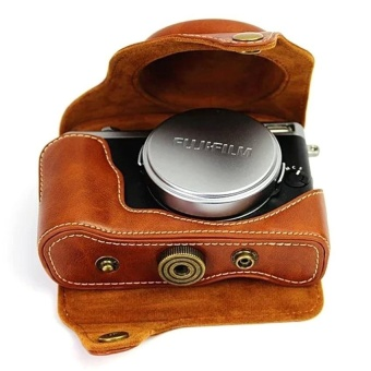PU Leather Camera Case Bag Cover forFujifilmX70Brown(CameraNotIncluded)  - intl