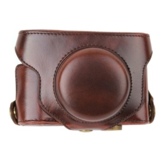 PU Leather Camera Case Bag with Strap for Fuji Fujifilm X30 - intl
