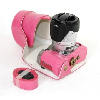 PU Leather Camera Case Cover for Fujifilm X-A3XA316-50/18-55mmLens(Rose) - intl
