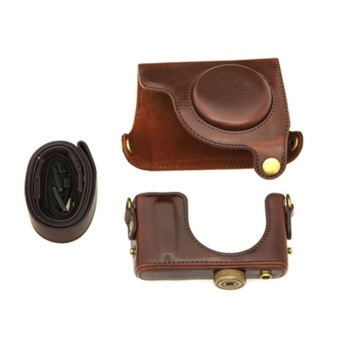 PU Leather Detachable Bag for CanonS110 Digital Camera Coffee -intl