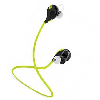 QCY QY7 Wireless Bluetooth 4.1 Stereo Earphone Fashion (Yellow) -Intl
