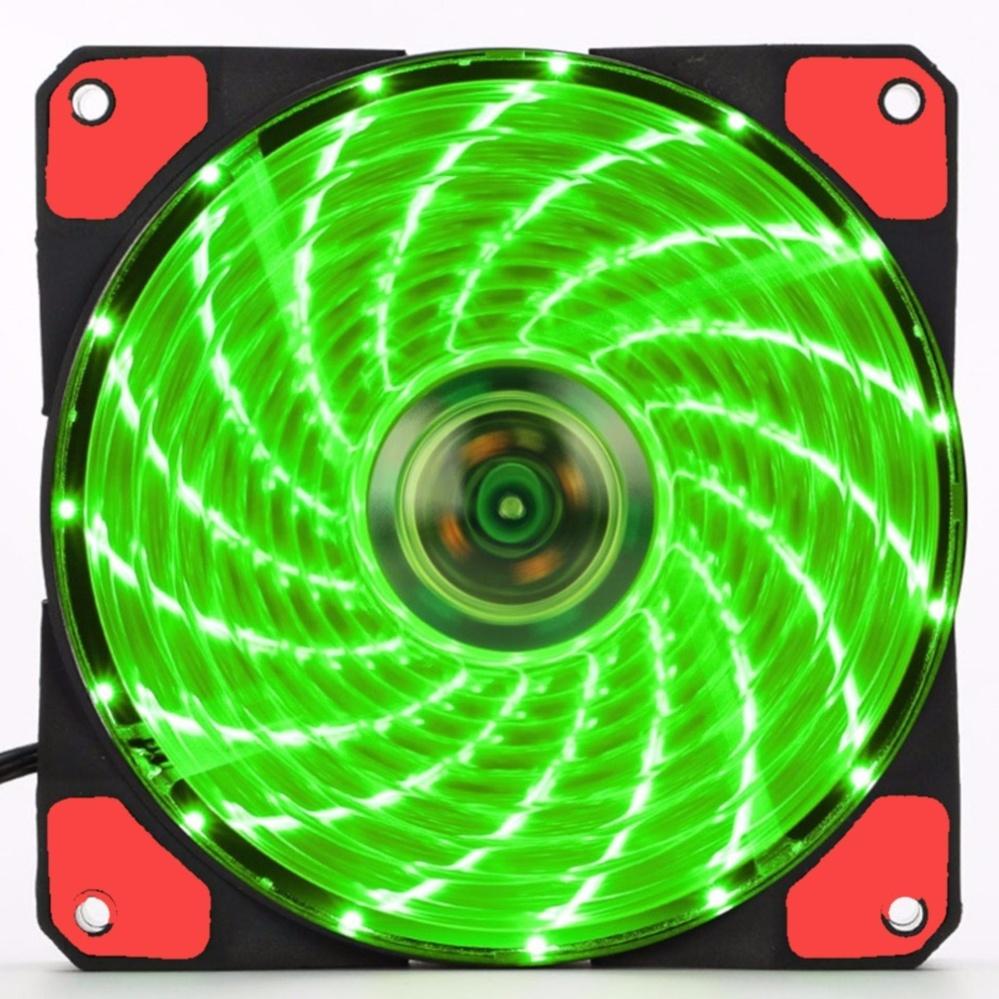 Quạt Case AgeCooler 120MM 15 Led siêu sáng (xanh lá)