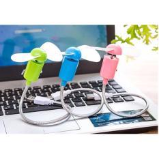 Quạt Mini 2 Cánh Cắm Cổng USB Dây Liền