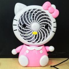 Quạt sạc USB mini để bàn hình mèo (2 tốc độ gió)