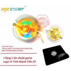 Cập Nhật Giá Quạt tản nhiệt CPU AgeCooler D3 Fan LED 7 màu + Tặng 1 lót chuột Vi Tính Mạnh Tiến