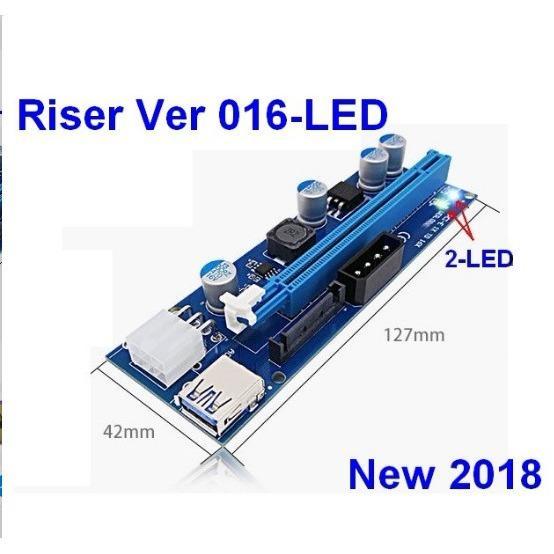 Riser PCIE 1x to 16X Ver 016-LED