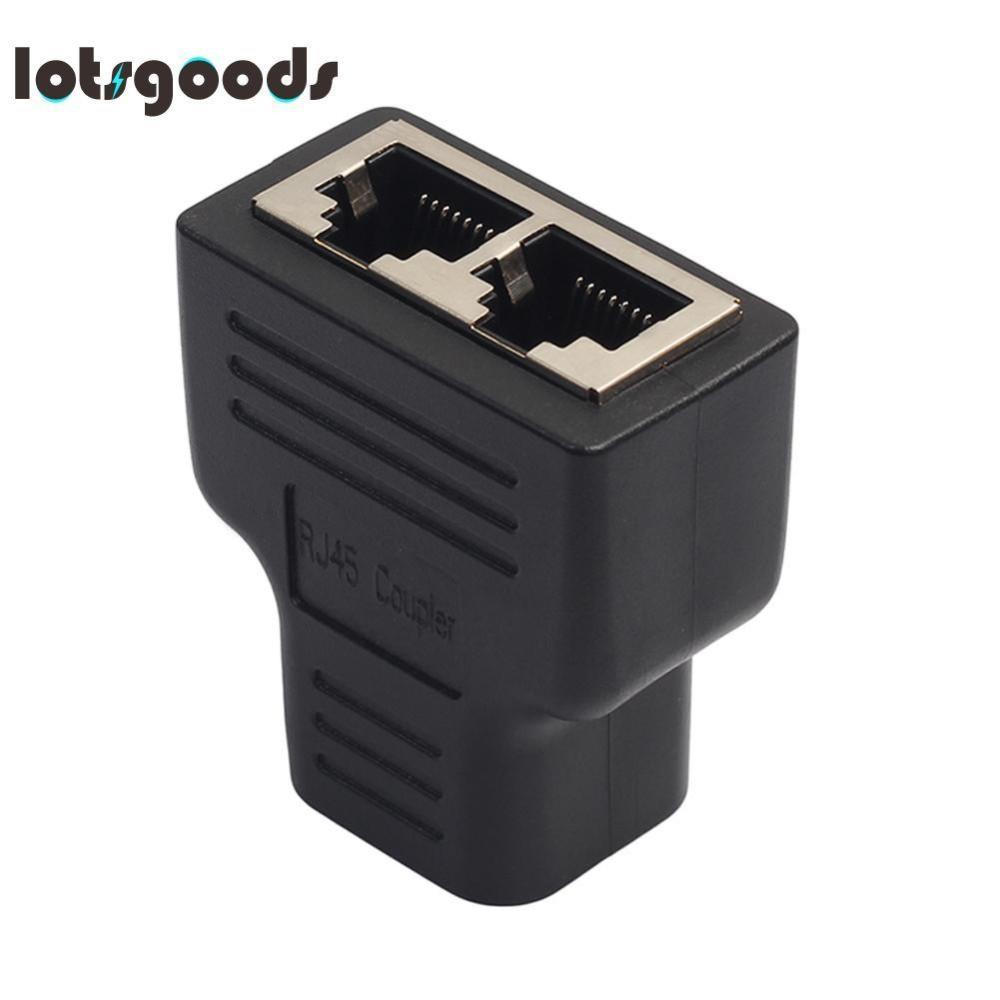 Bảng Giá Bộ Chia Adapter 1 đến 2 Cổng Cái Ổ Cắm-quốc tế(Black) Tại lotsgoods