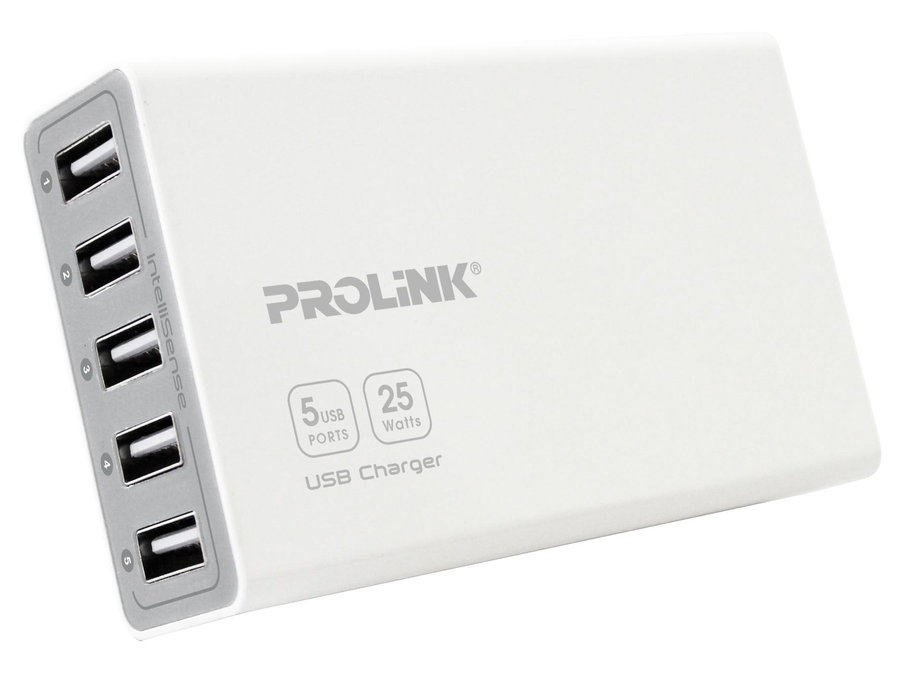 Giá bán Sạc 5 cổng USB – PROLINK PCU5051 (Trắng)- Hãng phân phối chính thức