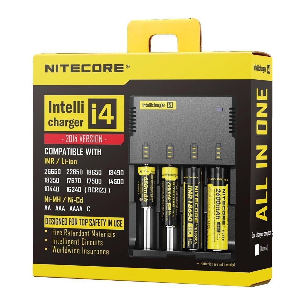 Nơi Bán Sạc đa năng Nitecore I4 dánh cho nhiều loại pin khác nhau (Đen)